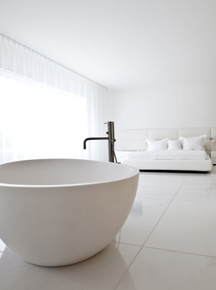 Master Bedroom and Bathtub