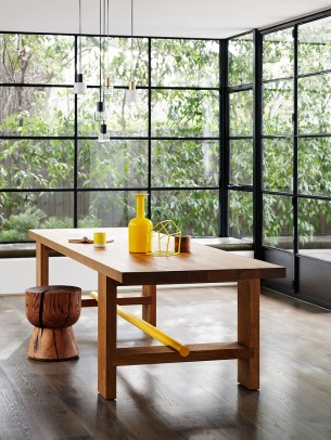 Wood Stool and Table