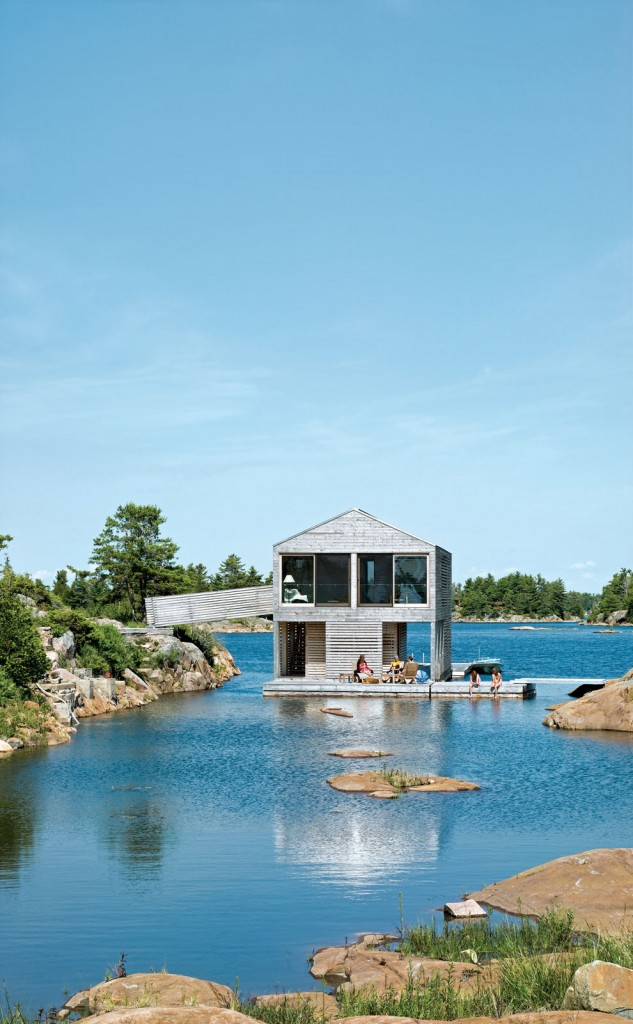 Floating House in Lake Huron ideasgn8 MOS Architects