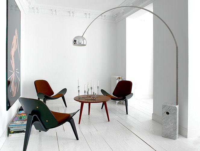 Nacho Polo Home Flos Arco Floor Lamp And Hans J Wegner