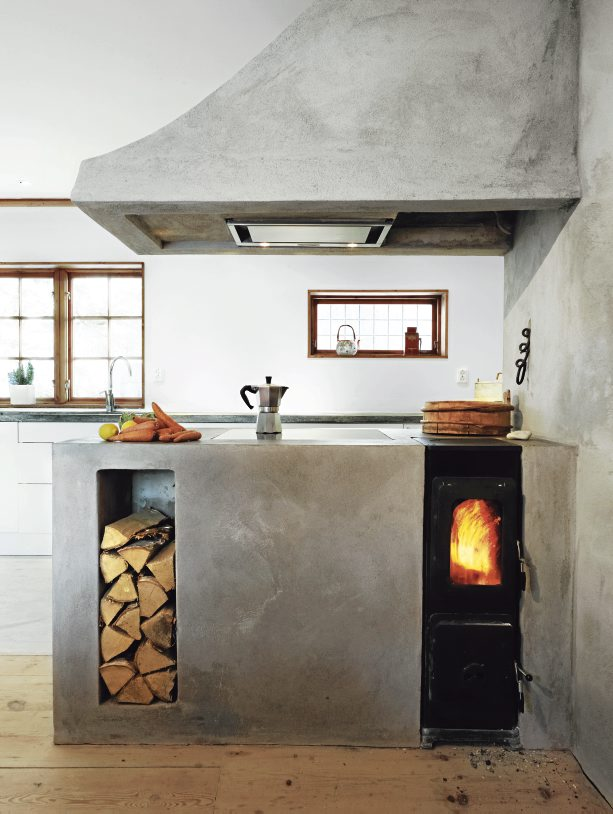 Swedish-Cottage-with-Concrete-stove