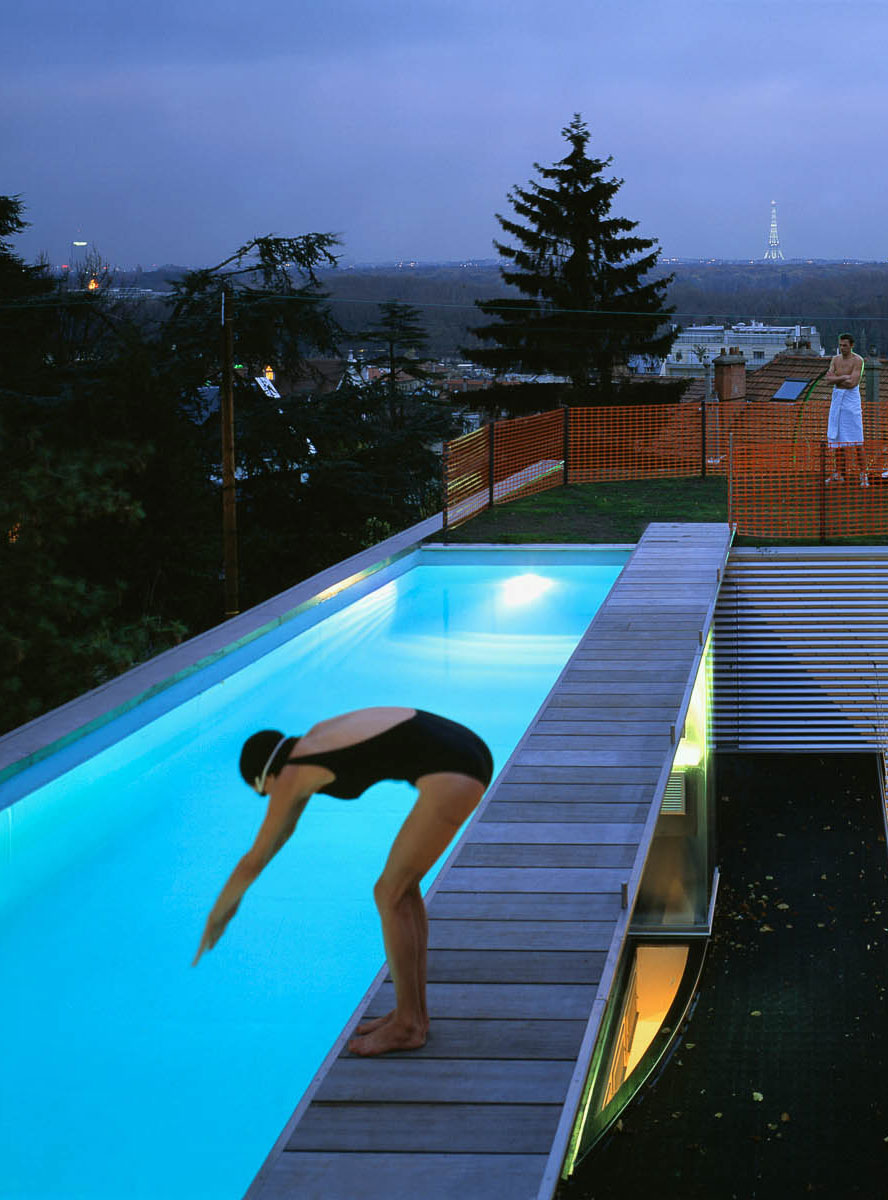 Floating pool dream house for Floating swimming pool paris