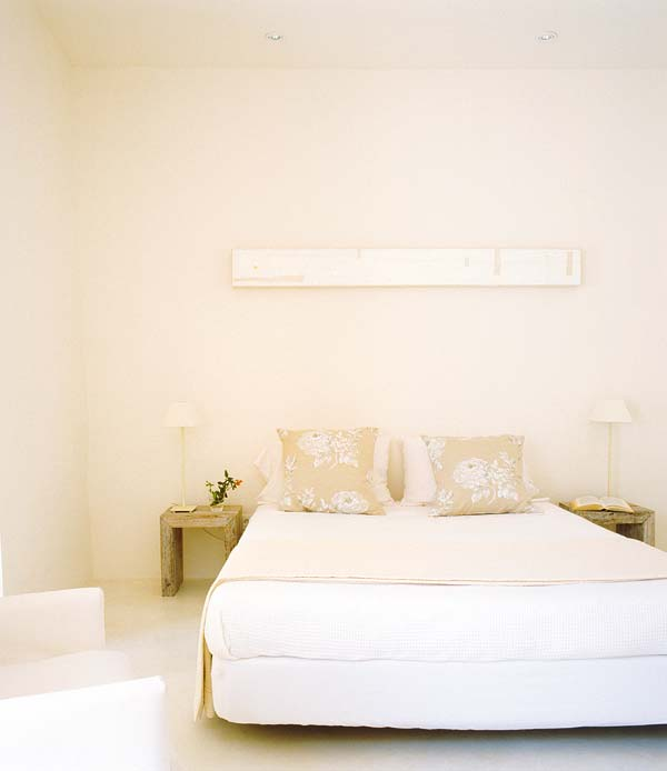 simple lines bedroom with soft light dream house