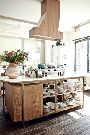 Brussels Loft Wood Kitchen