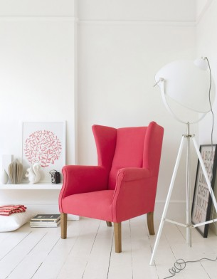 Red Chair in minimalist house