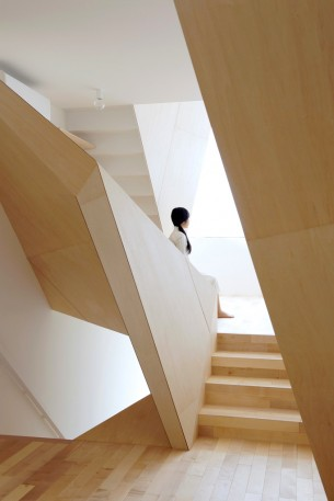 Wooden Polyhedral House Stairs