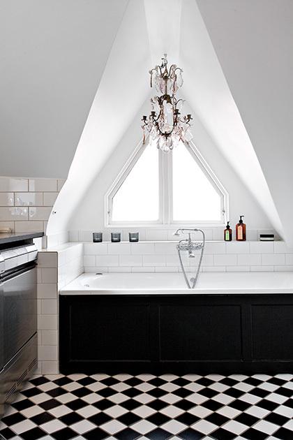 Stunning Stockholm Apartment Interiors Loft Bathroom