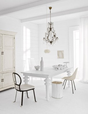 All white home and furniture