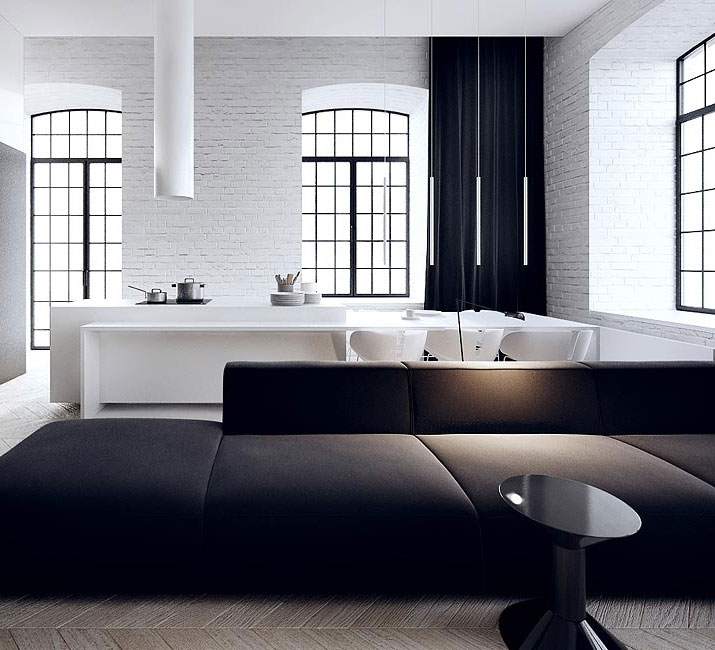 loft interior design łódź by Tamizo