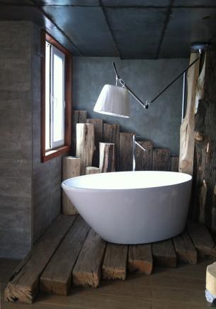 Rustic Wooden Bathroom