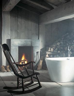 Rustic and Modern Bathroom Design