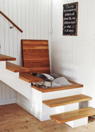 Stairs Hidden storage space