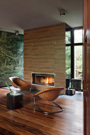 Russian House Fireplace
