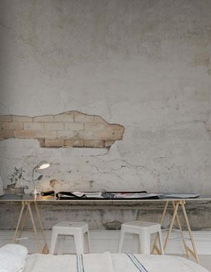 Worn Wallpaper Workspace