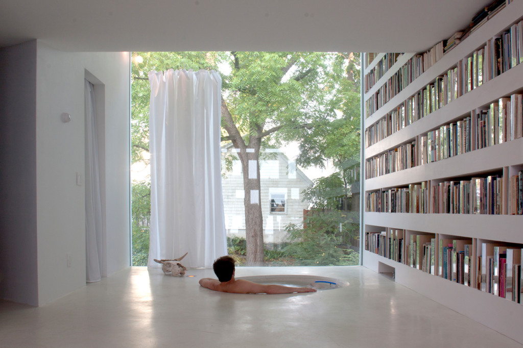 Haffenden House Private library and mini Pool by PARA-Project 04