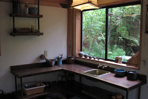 Modern japanese style bathroom ideasgn modern japanese style bathroom - Zen Cabin Kitchen In The Woods Dream House