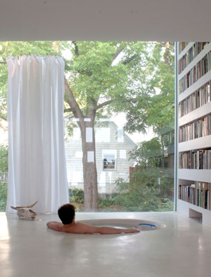 Private Library and Mini Pool