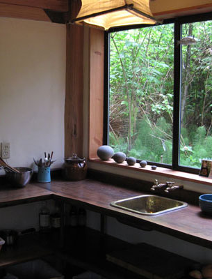 Zen Cabin Kitchen in the Woods