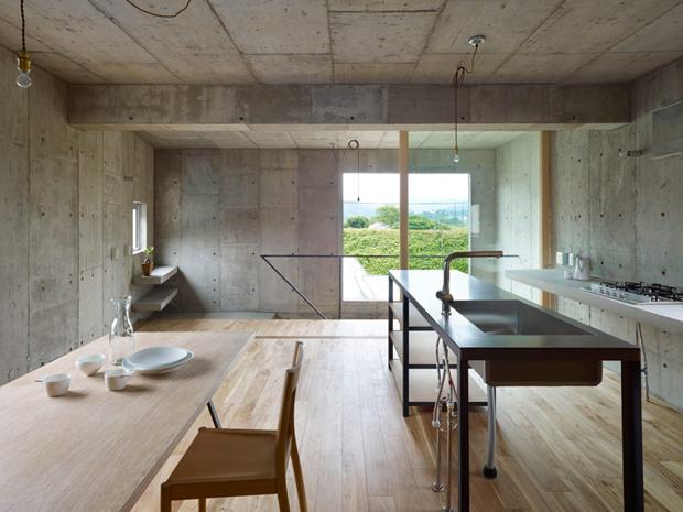 Concrete Interiors Kitchen   Dream House