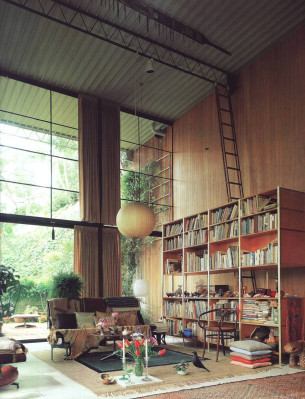Tall Library House