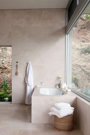 Nude-colored bathroom
