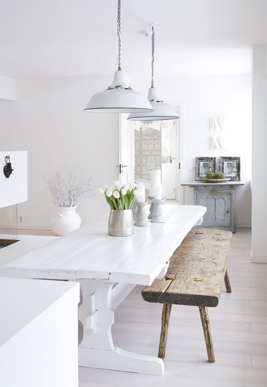 Scandinavian Kitchen and Dining area