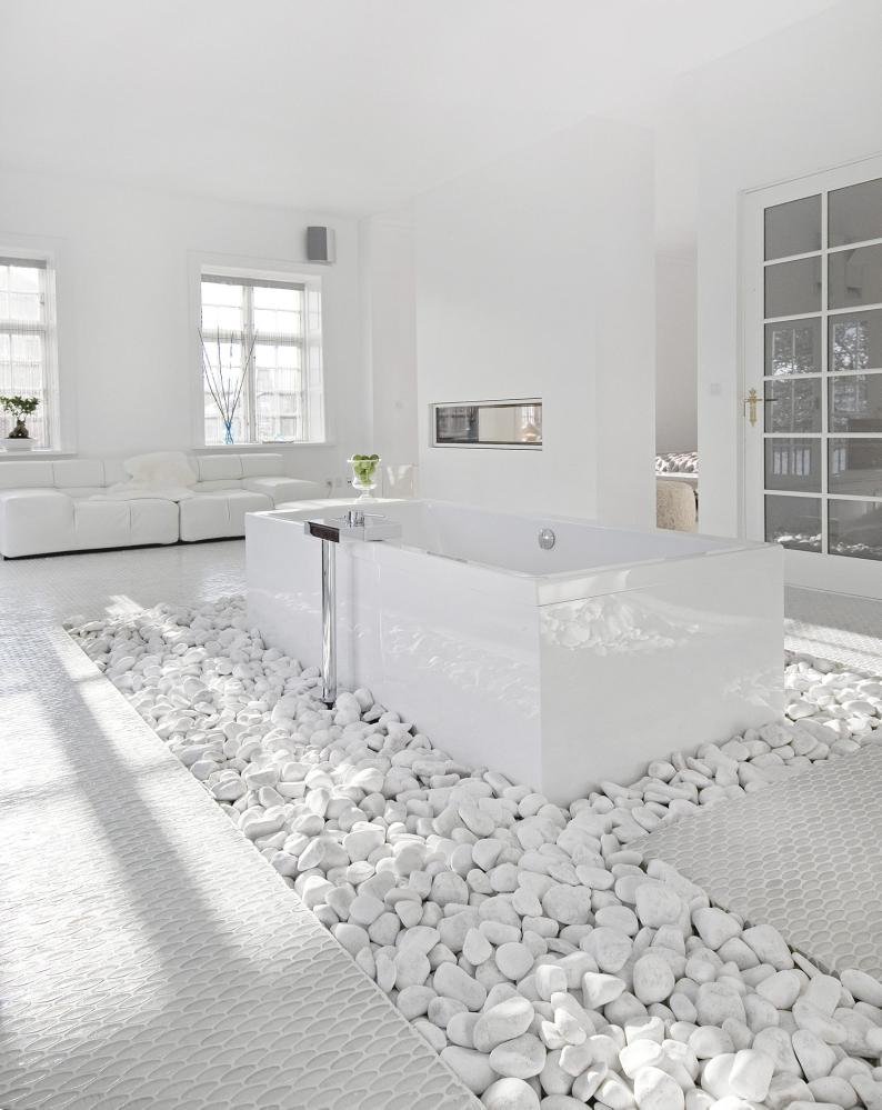 White White Bathroom - Dream House