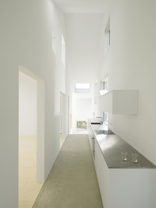 Bright and Narrow Kitchen