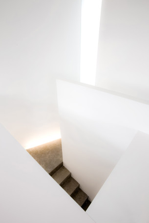 White Wall Stairs