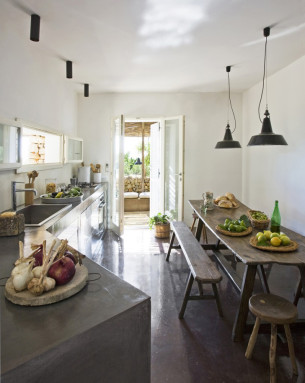 Rustic Kitchen and Dining Area