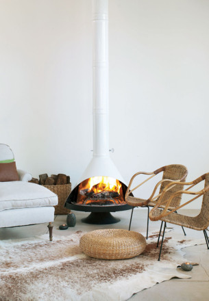 Modern and Rusitc Fireplaces