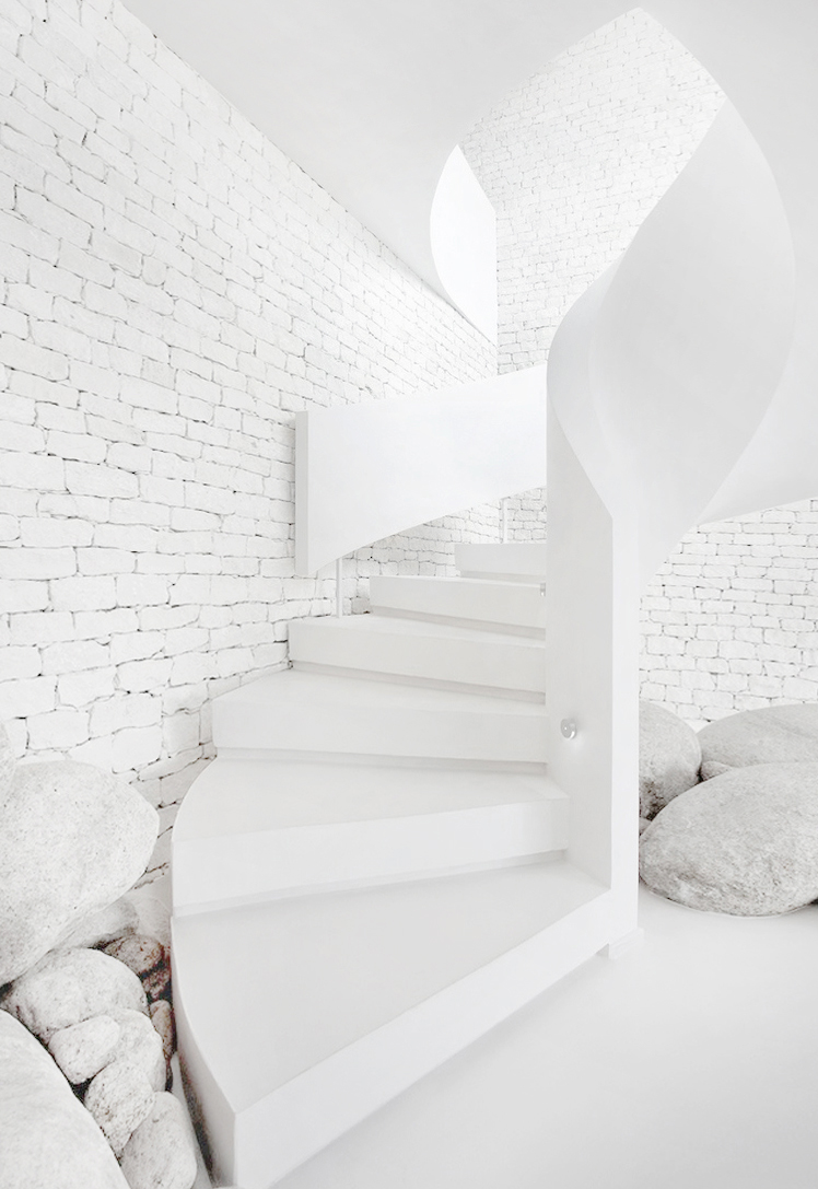 White Spiral Stair Dream House