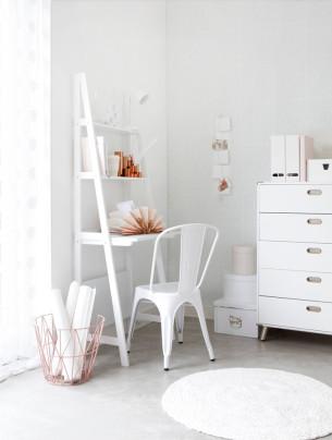 White Workspace with Mini Desk