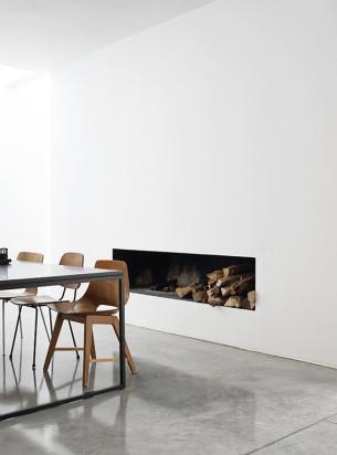 Minimalist Cutting Fireplace