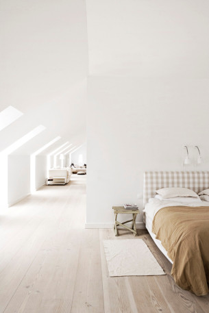 Soft Bedroom with amazing Skylights
