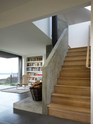 Concrete + Wood Staircase