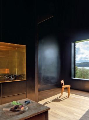 Zen Kitchen with big windows