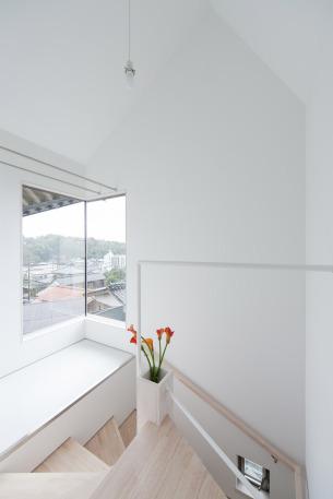 Vase in the corner stairs