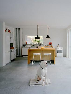 Simple open kitchen