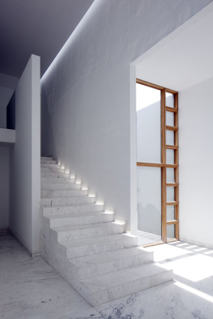 Marble staircase and Light