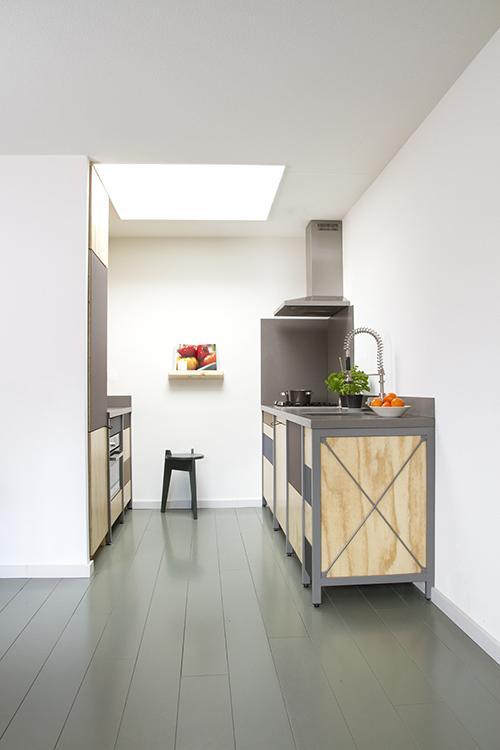 Kitchen with skylight