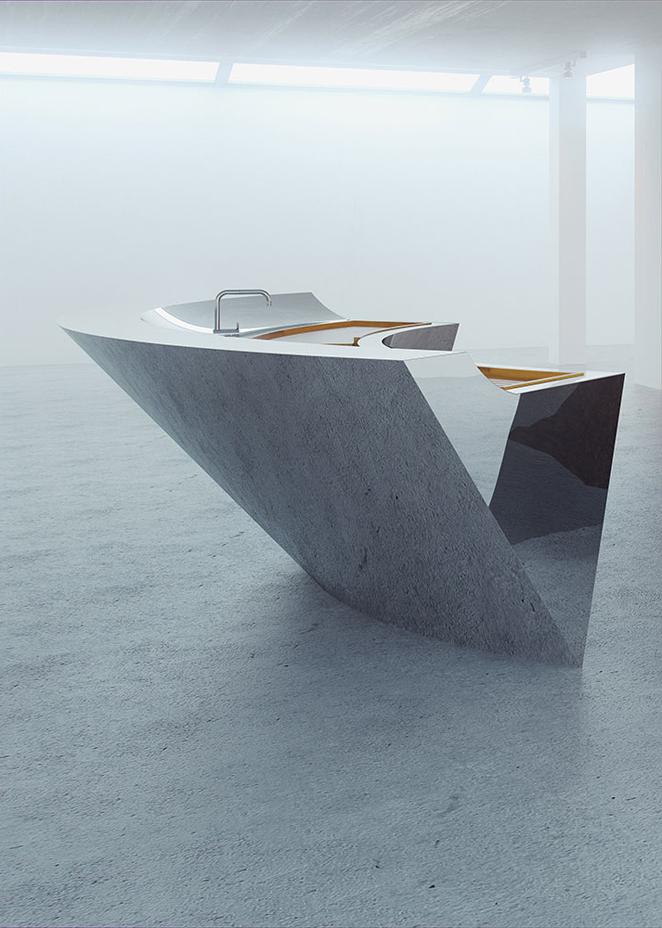 Tipping Point arresting sculptural kitchen by Splinter Works