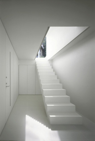 Pure White Staircase