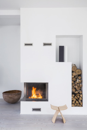 Lovely White Fireplace