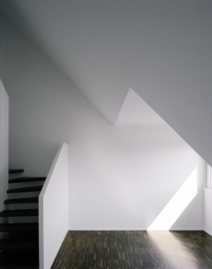 Minimalist White Black Staircase