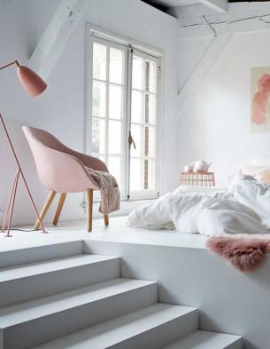 Pink Loft Bedroom
