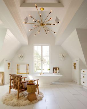 New Vintage Style Attic Bath