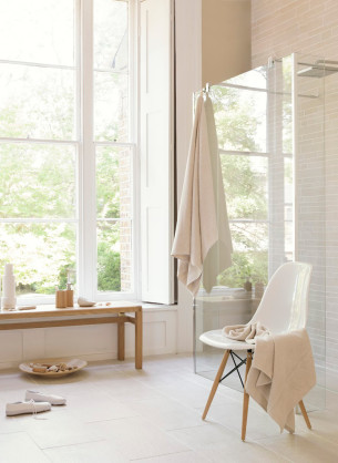 Warm Palette Scandinavian Bathroom