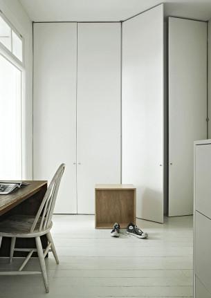 Workspace with minimalist Lockers