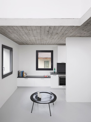 Simple White and Black Space